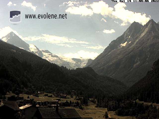 Meteo Valais, Webcam Evolène