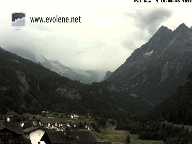 Webcam Evolene Dent-Blanche ¦ Chalet Bellevue en direct